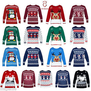 Mens-Ladies-Novelty-Jumper-Sweater-Retro-Christmas-Xmas-Snowman-Winter-Fairisle