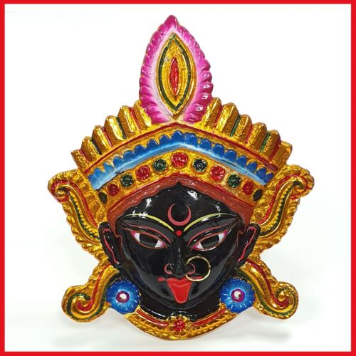 Goddess Kali Maa / Mata ( Durga ) Wall Hanging Face With Nose Ring , Solid Alloy
