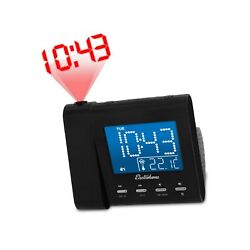 Electrohome EAAC601 Projection Alarm Clock with AM/FM Radio, Battery Backup, ...
