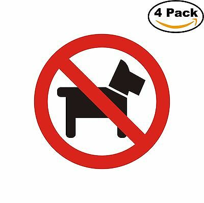 No Pets Dogs Pets Allowed Sign Decal Diecut Sticker 4 Stickers