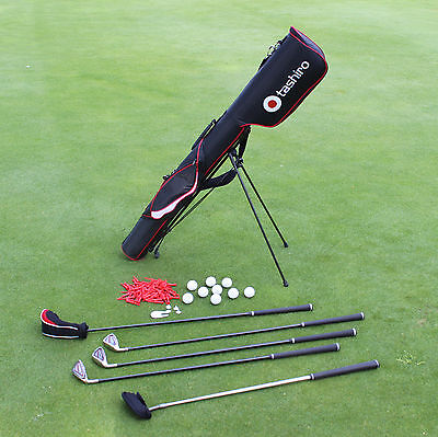 Herren Golf-Set Links Rechts | PencilBag + 5 Golfschläger Halbsatz Reise Starter