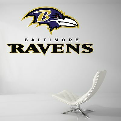 Baltimore Ravens NFL Football Wall Decal Vinyl Decor Room Car Sticker Art - Baltimore Ravens Room Decor