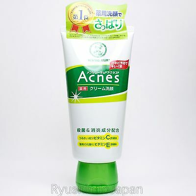 Mentholatum Acnes Medicated Creamy Wash 130g with Vitamin C,E for Acne Care