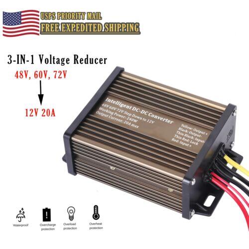 Golf Cart Voltage Reducer for 48v to 12v 20 amp 240 watt