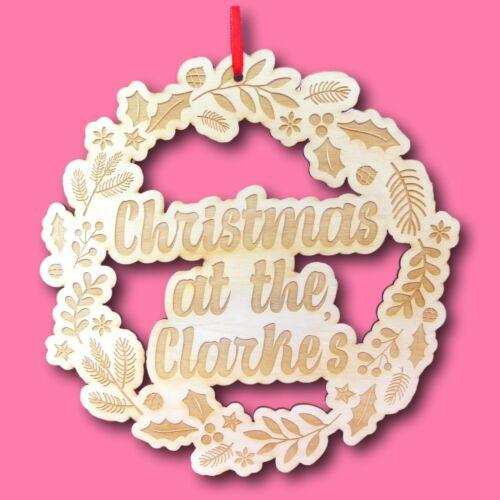Wooden+Christmas+Wreath+%7C+Personalised+Xmas+Wreath+%7C+Wooden+Wreath+%7C+Traditional