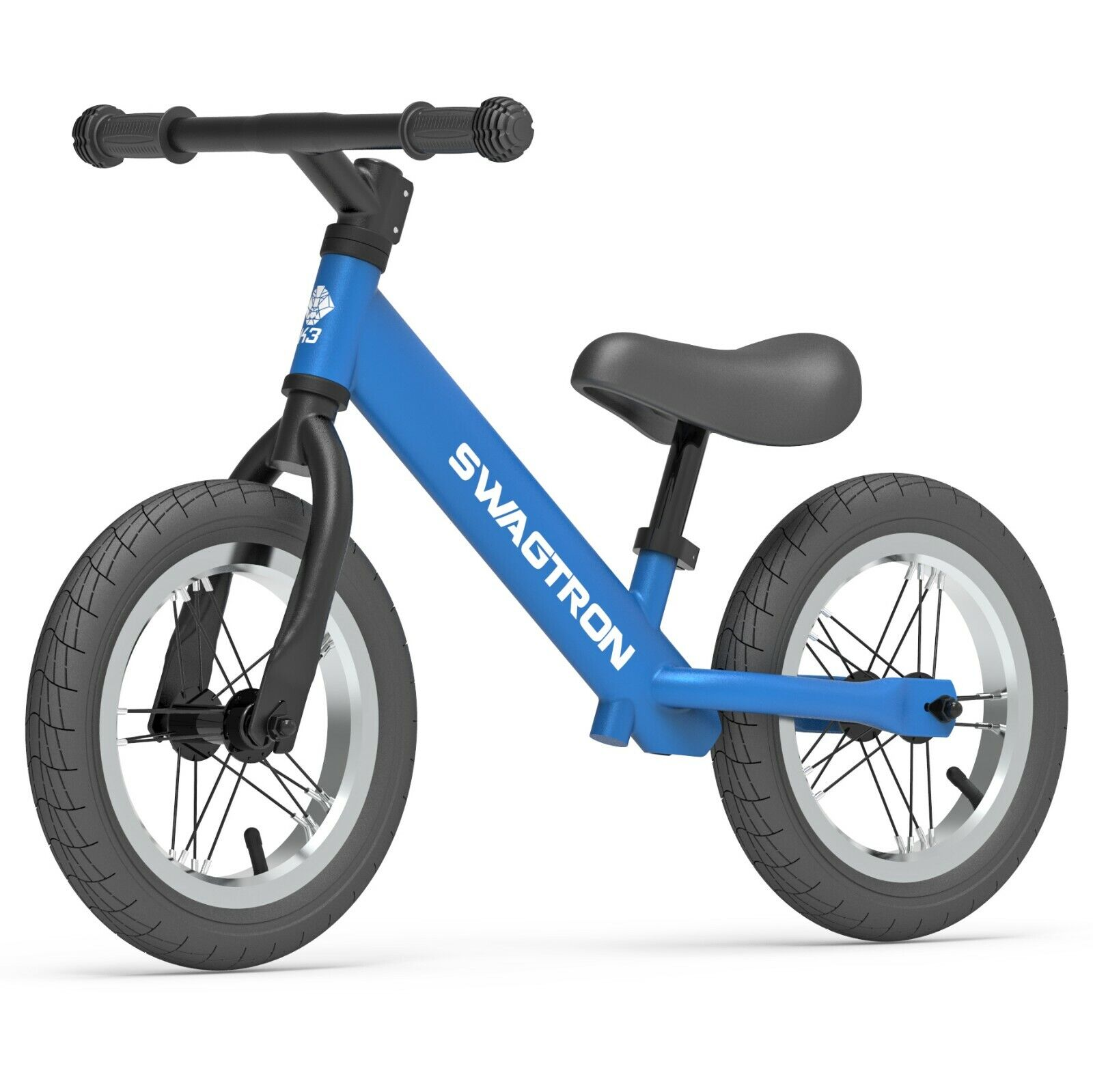 "Swagtron K3 12"" No-Pedal Balance Bike for Kids Blue"