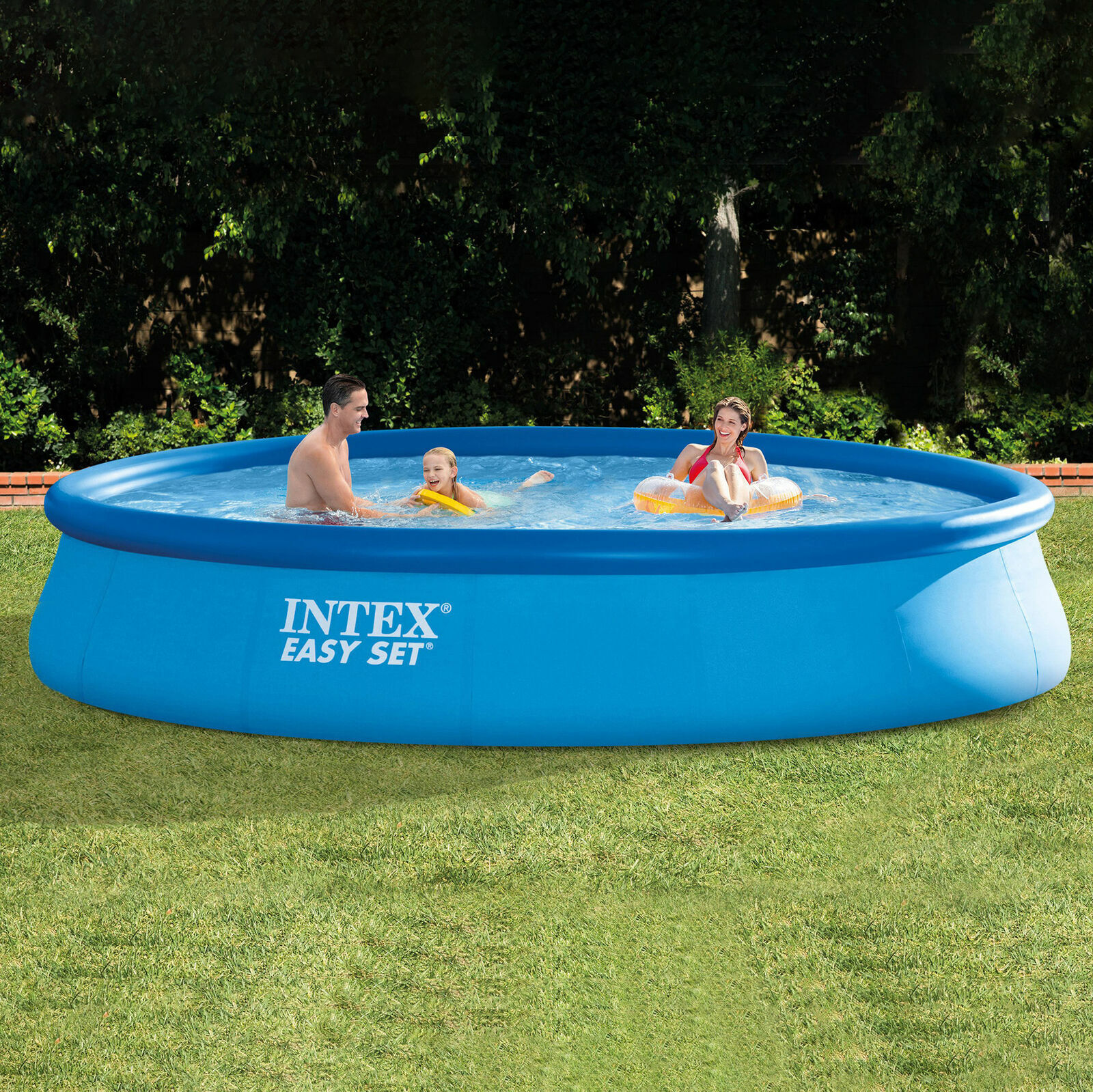 "Intex 15' x 33"" Easy Set Above Ground Pool & 530 GPH Filter"