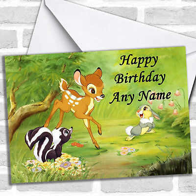 Bambi Personalized Childrens Birthday - Personalized Birthday Cards