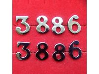 OBSOLETE CHROME POLICE NUMBERS LOT 8