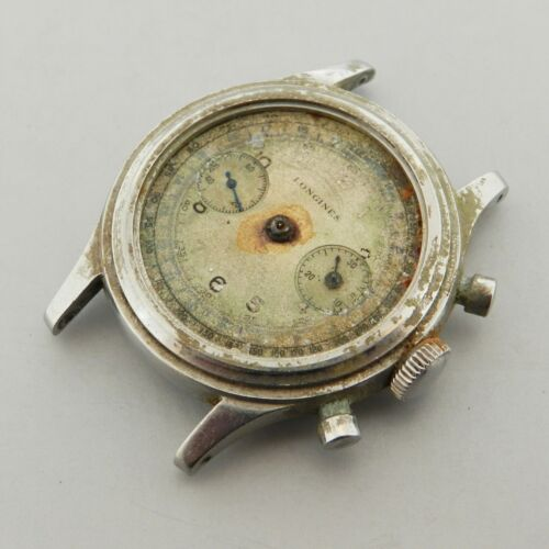 VINTAGE LONGINES CHRONOGRAPH 13ZH GENUINE WATCH PROJECT EARLY WATERPROOF 1940'S - watch picture 1
