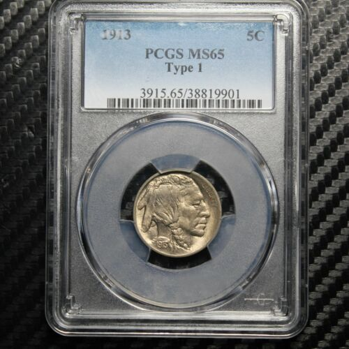 1913 Buffalo Nickel PCGS MS65 - Type 1 (19901)