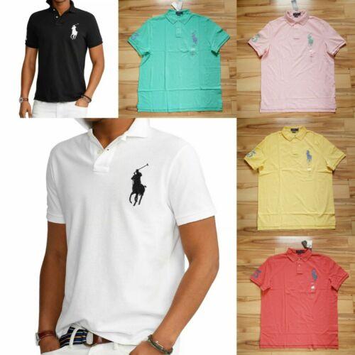 NEW Men Polo Ralph Lauren BIG PONY Mesh Polo Shirt - S M L XL XXL - CLASSIC FIT