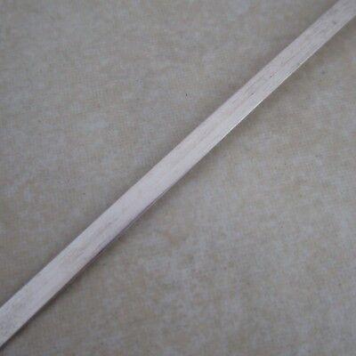 - sterling silver 925 flat bezel wire 3mm 28 gauge untreated