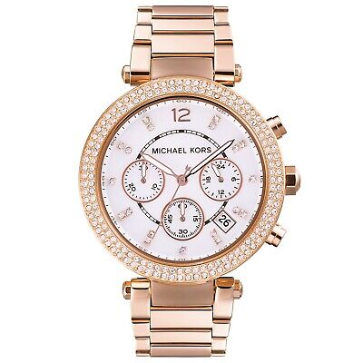 Michael Kors MK5491 Parker Chronograph Ladies Wristwatch Mother of pearl dial