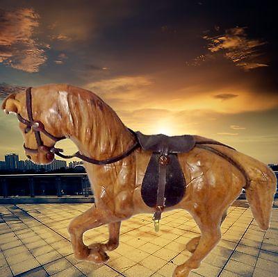 Spielzeug Leder Pferd hell zur Sammlung Fahrzeuge Vintage Geschenk ein Unikat