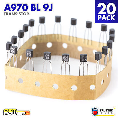 Lot Of 20 2sa970-bl A970 Bl 9j Transistor Low Noise Audio Amplifier 3-pin New