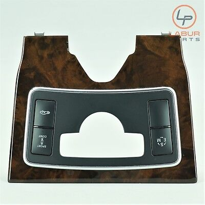 A908 - W218 MERCEDES 12-18 CLS CLASS CENTER CONSOLE KNOB COVER WOOD TRIM BEZEL
