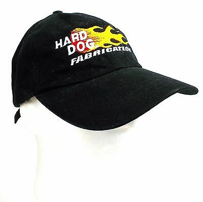 Hard Dog Fabrication Cap Hat Black Adjustable 100% Cotton Embroidered