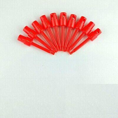 10x Red 2.3 Test Clip Smd Grabber Ic Hook Multimeter Probe 5.7cm Usa