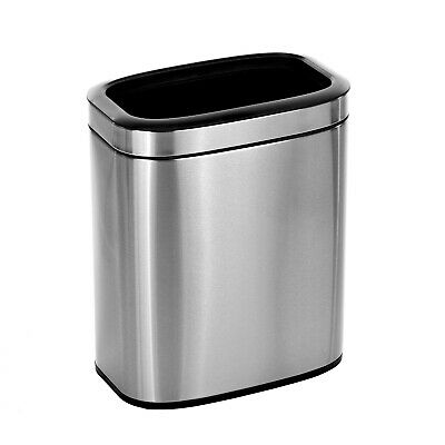 Alpine Industries 5.3 Gal. Stainless Steel Office Commercial Open Top Trash Can