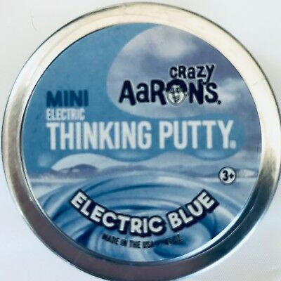 "Electric Blue Crazy Aaron's Thinking Putty 2"" can .47 oz"