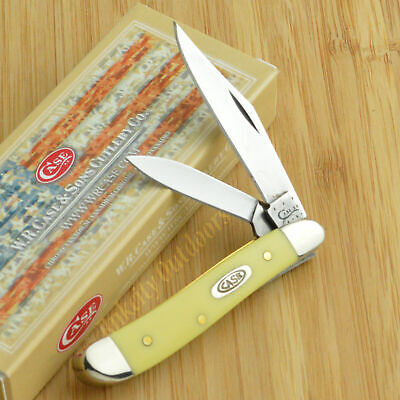 Case XX Yellow Synthetic Handle Peanut Folding Pocket Knife 00030 3220 CV