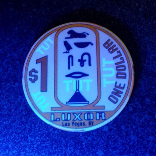 $1 Las Vegas Luxor Obsolete Linen Casino Chip - Stamped TUT