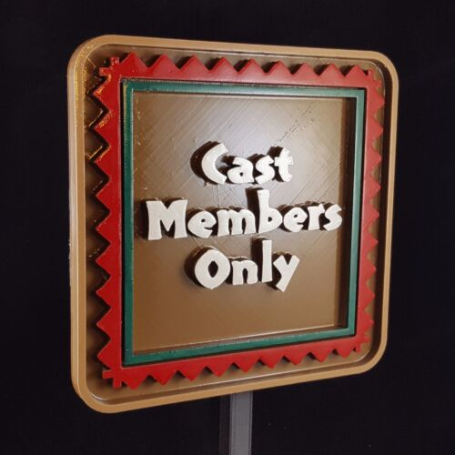 Polynesian Themed Cast Members Only Sign / Plaque