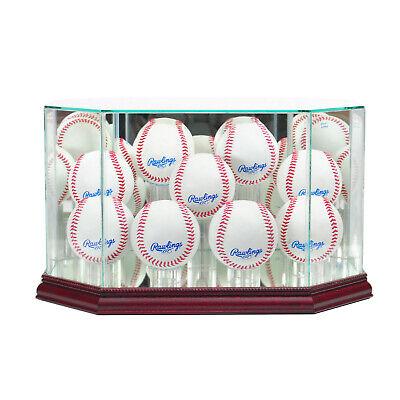New 9 Ball Baseball Display Case MLB Glass & Mirror Cherry Molding FREE SHIP! (Ball Glass Display Case)