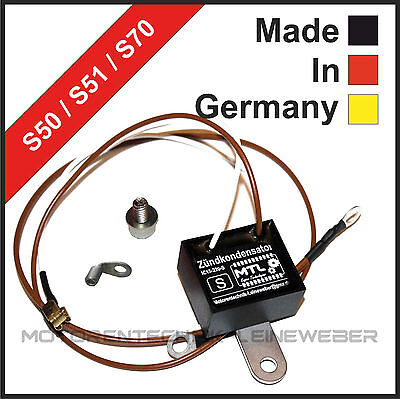 SIMSON Außen-liegender Zünd-Kondensator für Unterbrecher S50 S51 S70  IC17-220-S