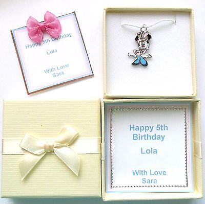 Minnie Mouse Charm Necklaces Bridesmaid Flower Girl Birthday Christmas Gift ()