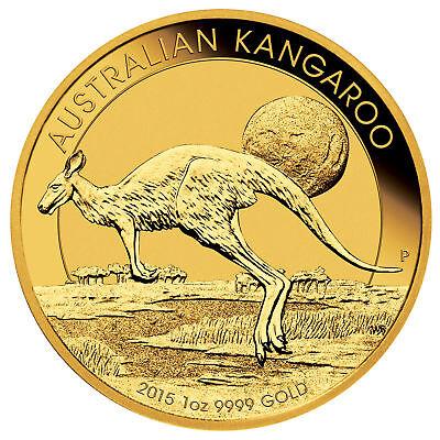 1oz Australian Gold Kangaroo Coin .9999 Fine BU (Random Date)