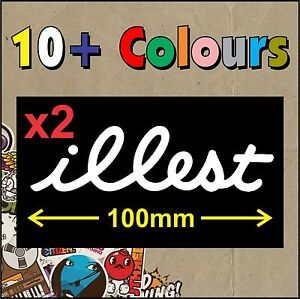 illest Flatface STICKER DECAL JDM TURBO DRIFT x2 - Cheapest in Australia - Small