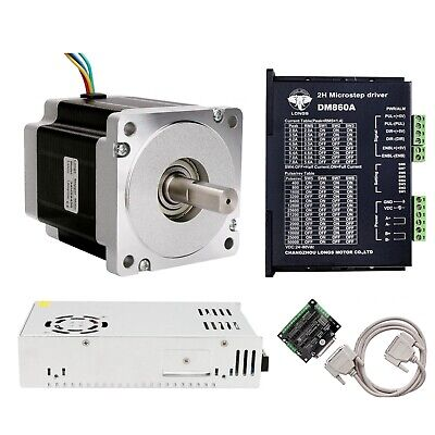 Usa Free Ship1 Axis Nema 34 Stepper Motor 965 Oz.in 5.6a Driver 80v Cnc