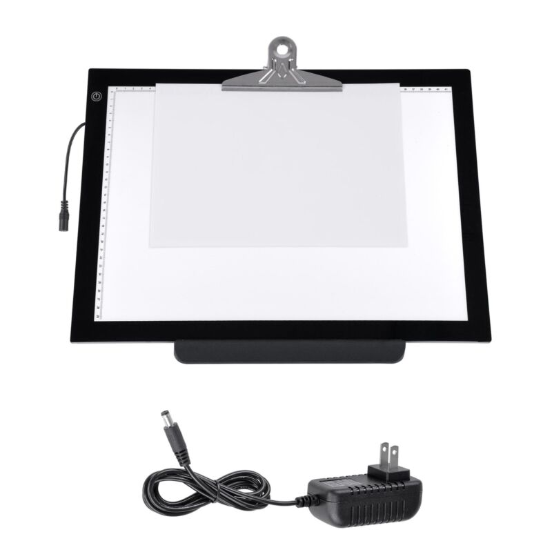 """A3 19"""" LED Artist Stencil Board Tattoo Drawing Tracing Light Box Pad with Stand"""