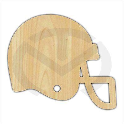 Unfinished Wood Football Helmet Shape Laser Cutout, Wreath Accent, Paint Ready (Football Helmet Cutouts)