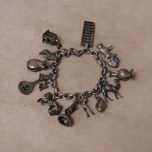 Sterling Silver Unique Charm Bracelet