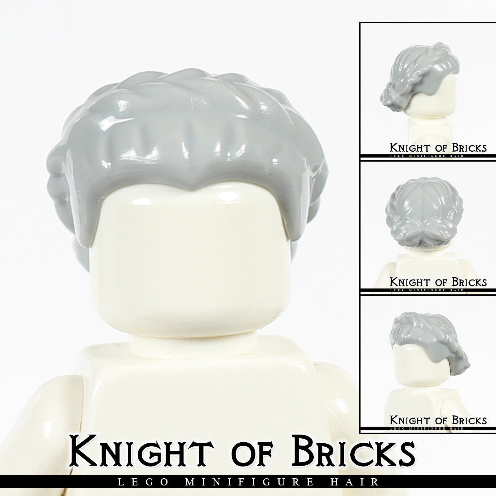 Lego Grey Hair for Minifigure Part 64807 New