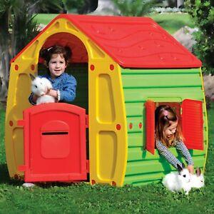 f45a09e2f66d Children Play House Kids Playhouse Outdoor Plastic Magical House Garden Toys