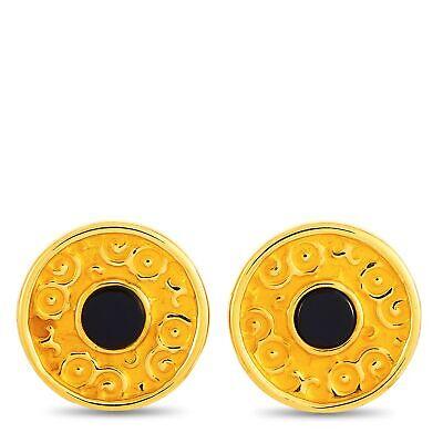 Carrera y Carrera Alegrias 18K Yellow Gold and Onyx Earrings