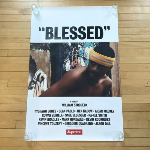 """SUPREME 2018 """"BLESSED"""" FILM RELEASE THEATER POSTER  27 X 30"""" / AUTHENTIC"""