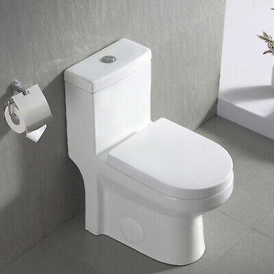 DeerValley Ceramic Modern One Piece Dual Flush SMALL Toilet with Toilet Seat
