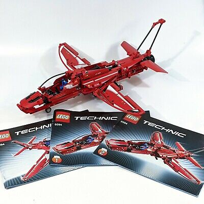 LEGO Technic 9394 Jet Plane - 100% Complete with 3 Manuals