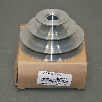 Congress Stepped V-belt Pulley Sca400-3x062kw 58 Bore 3 Groove 4l A Zinc