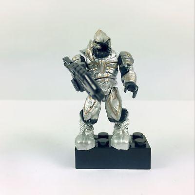 Halo Mega Bloks Silver Covenant Elite Arbiter Building Toy Mini Figure W/ - Mega Toys