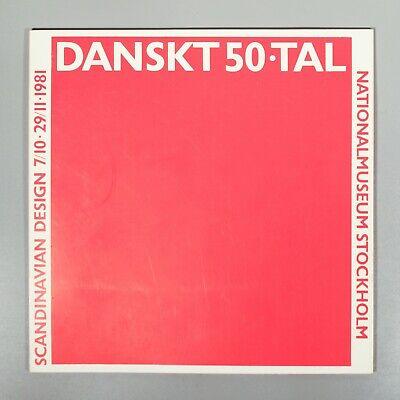 Dansk 50.tal Scandinavian Design 1981 museum catalogue furniture silver glass