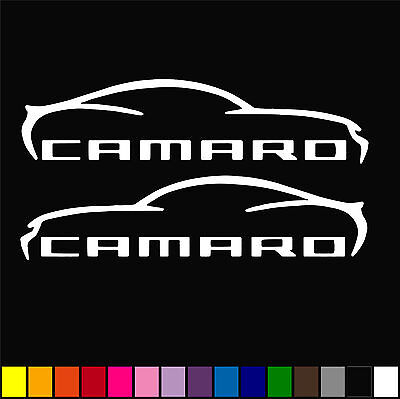 Muscle Car Decor (2x Chevrolet Camaro Decal Muscle Car Racing Decor Window Vinyl STICKER)