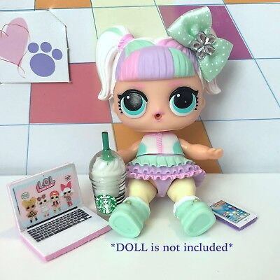 4 PC LOL Surprise Doll Accessories Starbucks Clothes Lot *Unicorn Not Included*
