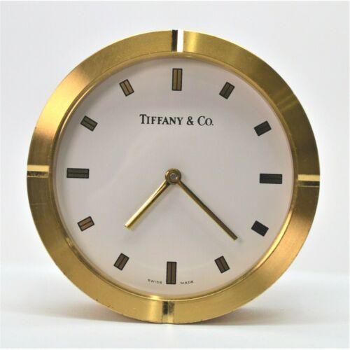 Tiffany & Co. Brass Round Fan Clock