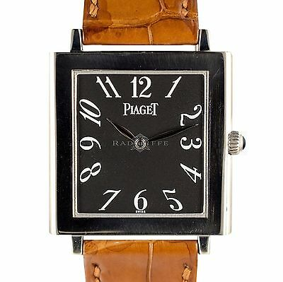 Piaget 9930 Altiplano Mechanique Tank 18k White GOLD Manual Wind Movement